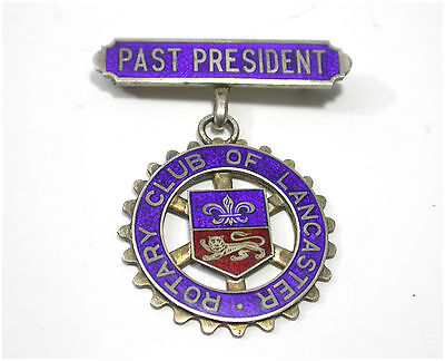 Rotary Club Lancaster - Past Presidents Jewel Sterling Silver Blue & Red Enamel
