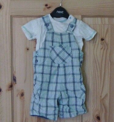 George baby boys 3-6 months checked summer playsuit romper t shirt outfit