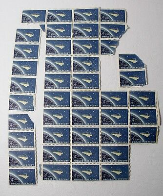 Lot of 36 MERCURY 4 cent Stamps
