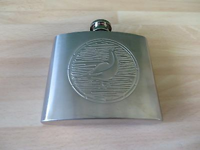 FAMOUS GROUSE  SCOTCH WHISKY 5 oz  S/STEEL HIP FLASK looks unused in ex cond