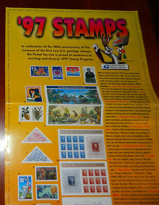 Stamps of 1997 Poster USPS 32c Post Office Lobby Poster