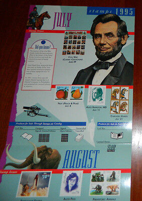 Stamps of 1995 USPS 32c Post Office Lobby Poster
