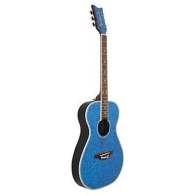 Daisy Rock Pixie Acoustic Guitar, Blue Sparkle. Shipping Included