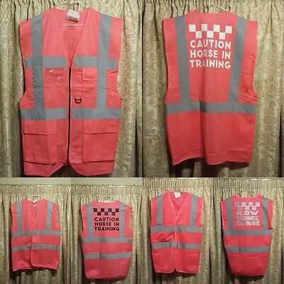 Equestrian Hi-Viz fluorescent tabards Adult and Children
