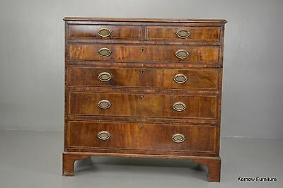 Antique George III Georgian Mahogany Chest of Drawers
