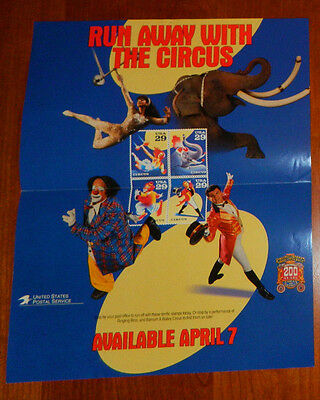 Ringling Bros & Barnum & Bailey Circus USPS 29c Poster Post Office Lobby