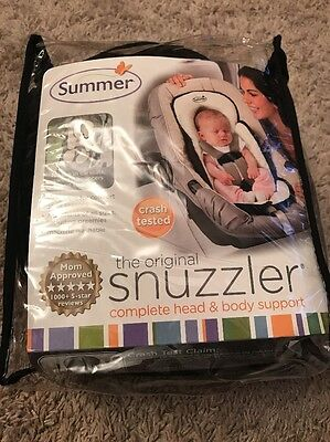 Summer Infant Snuzzler Infant Support for Car Seats and Strollers Black Velboa