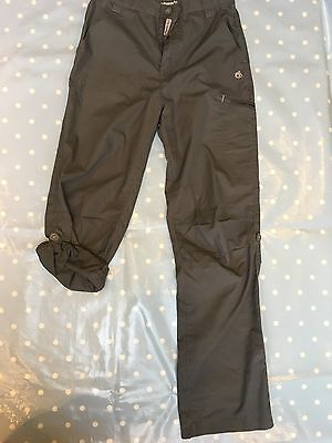 CRAGHOPPERS MENS dark grey TROUSERS OUTDOOR WALKING HIKING CAMPING  BOYS 13yrs