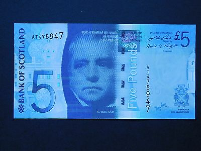 Bank of Scotland £5 note - uncirculated