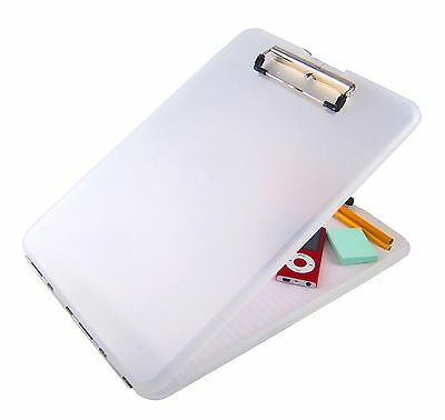 Saunders Clear SlimMate Plastic Storage Clipboard - Letter Size - 00871