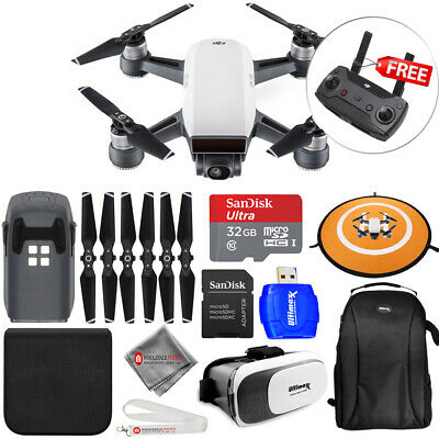 DJI Spark Quadcopter (Alpine White) ALL YOU NEED MEGA ACCESSORY BUNDLE - New