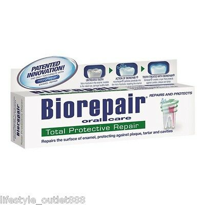 Biorepair Oral Care Total Protective Repair Toothpaste 75ml Free Shipping