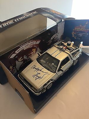 Back To the Future Delorean Signed By Christoper Lloyd