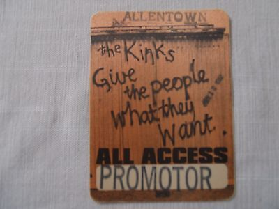 The Kinks 1981 Give The People What They Want Tour-BS Pass-10/4/81 Spectrum PHL