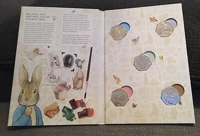 Beatrix Potter New Album + Full Set Of 50 Pence New Coins Included