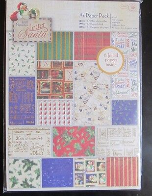 Docrafts Papermania Letter To Santa Paper Pack 32 Sheets Bnip