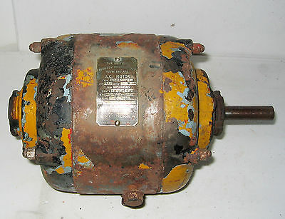 B.T.H. ELECTRIC MOTOR 400/440 Volt AC THREE PHASE 1/2 HP.