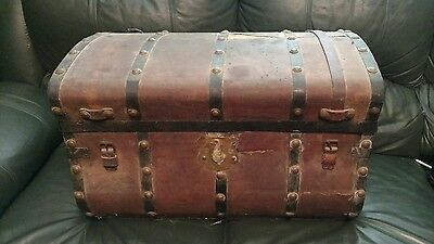 Antique 1800s Jenny Lind Storage Trunk