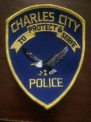 Charles City  POLICE-  IA  Police Patch