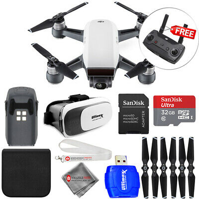 DJI Spark Quadcopter (Alpine White) ALL YOU NEED PRO ACCESSORY BUNDLE - New