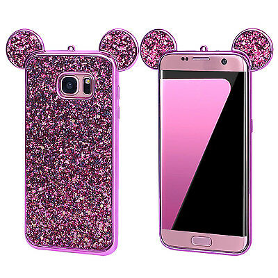 Luxury Bling Back TPU Case Silicone Soft Slim Rubber Cover For Samsung Galaxy S8