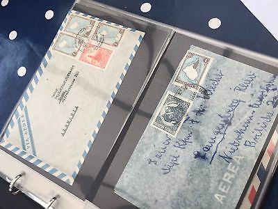 Latin America interesting letter / airmail collection and more in album
