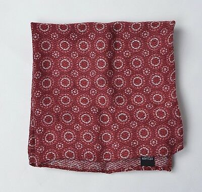 NEU Einstecktuch Pocket Square Wolle Seide Wool Silk Geometric Circle Made Italy