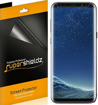 2xSupershieldz for Samsung Galaxy S8 Plus Clear Screen Protector [Case Friendly]