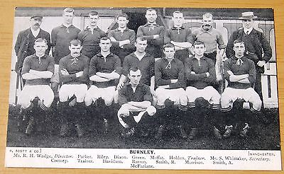Original Vintage Burnley FC Football Team Group Postcard Early 1900s Unposted