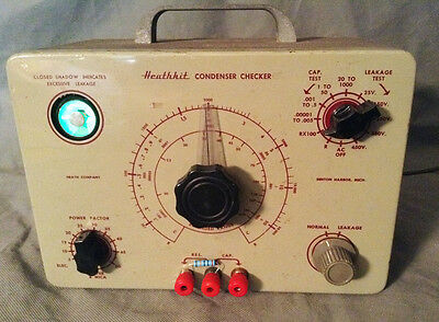 Heathkit C-3 Condenser (Capacitor) Checker, Refurbished, Tested