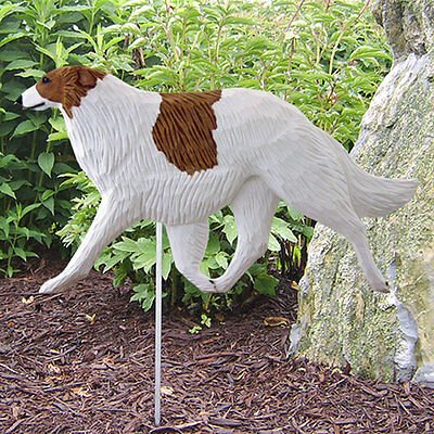 Borzoi Outdoor Garden Sign Hand Painted Figure Bi