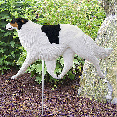Borzoi Outdoor Garden Sign Hand Painted Figure Tri