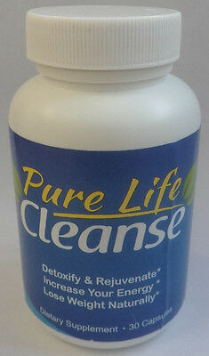 Pure Life Cleanse Detox & Weight Loss Supplement, 30 Capsules,Brand New & Sealed