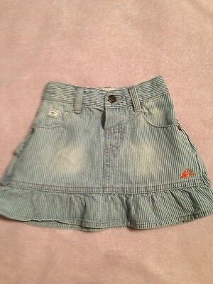 Mantaray Baby Girl Denim Skirt Age 12-18 Months Excellent Condition