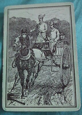 Vintage Very Old Wide Swap Playing Card Horse.  Very Good  Condition AE