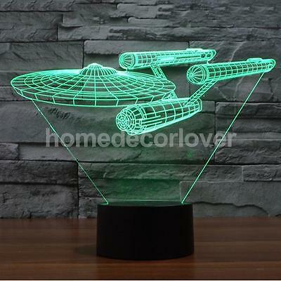 7 Color Star Trek USS Enterprise 3D LED Night Light Table Lamp with Touch Switch