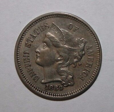 1869 3 Cent Nickel AS13