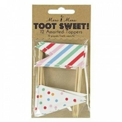 Toot Sweet Assorted Toppers Birthday Party. Meri Meri. Brand New