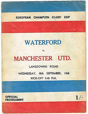Waterford v Manchester United European Cup 1968/69