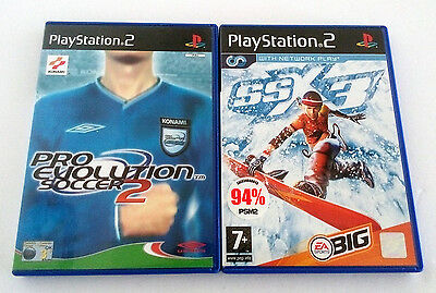 PS2 PlayStation 2 Sports Video Games Pro Evolution Soccer SSX 3 Collection Lot