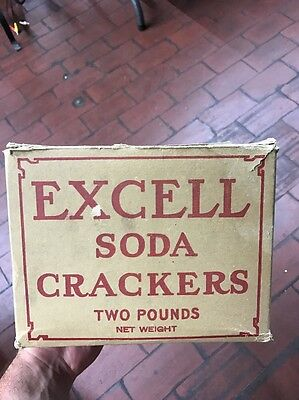 Early Country Store Excell Soda Crackers National Biscuit Co Box Rare