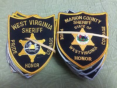 70 WV Sheriff Patches  - Includes All 55 County WV Sheriff Dept Patches
