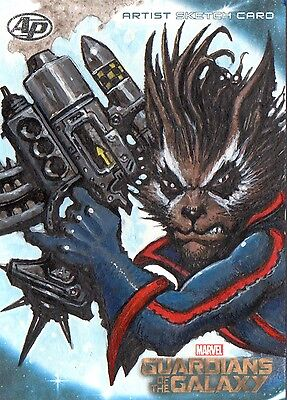 Marvel Guardians Of The Galaxy Rocket Raccoon Upperdeck Ap Clint Langley