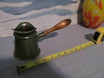 antique pewter pitcher wood handle