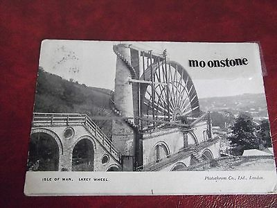 Old Postcard Of Laxey Wheel, Isle Of Man, 1906