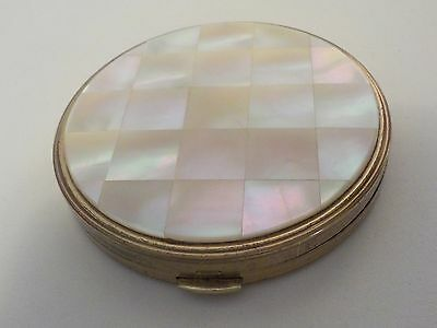 Margaret Rose Compact Vintage Mother of Pearl Ladies Powder