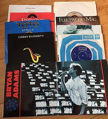 "Selection of Rock Classic 7"" Vinyl Singles"