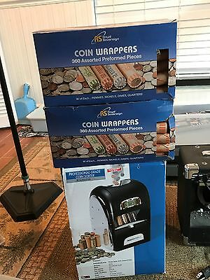 Professional Coin Sorter with 2 boxes of coin wrappers
