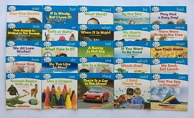 Nonfiction Sight Word Readers Childrens Books Level B Lot 25