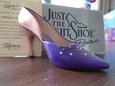 Just The Right Shoe Patrica In Plum # 25191
